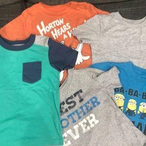 Bundle!! Boy t shirts size 4t/4